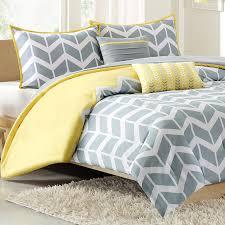 nadia chevron print twin xl comforter set yellow