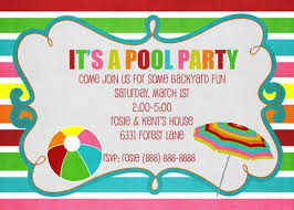 invitation party templates pool party invitations templates free theruntime com