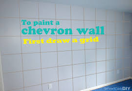 Painting Patterns On Walls How To Paint A Chevron Wall