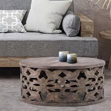 womo design round coffee table grey Ø