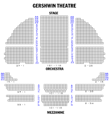 Gershwin Seating Chart Gershwin Theatre Seating Chart Gershwin Theatre Seating