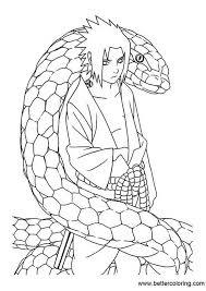 Naruto Coloring Pages Sasuke Uchiha Free Printable Coloring Pages