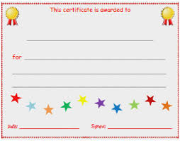blank certificates free participation certificate templates for word good blank