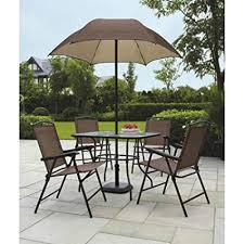 Outdoor dining sets with umbrella Round Image Unavailable Amazoncom Amazoncom Sand Dune 6piece Patio Dining Set With Umbrella