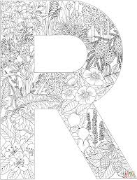 Letter R Coloring Pages Free Inside Page Wumingme