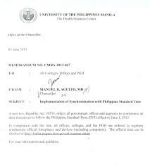 university of the manila chancellor agulto s memo