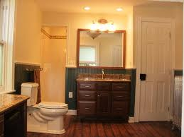 Wooden Laminate Flooring Floor Lamp Dark Grey Wall Paint - Recessed lights bathroom