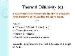 thermal diffusivity equations formulas calculator tessshlo