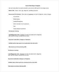 Nursing Shift Report Template 9 Shift Report Templates Word Pdf Pages