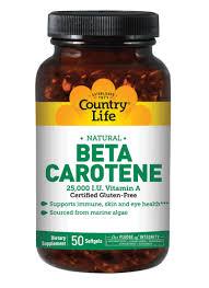 Natural <b>Beta Carotene 25,000 I.U.</b> Units | Country Life Vitamins