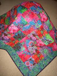 Lap Quilt, Kaffe Fassett Big Flowers in Blue Green Pink Red Large ... & Lap Quilt, Kaffe Fassett Big Flowers in Blue Green Pink Red Large Bold  Flowers and Adamdwight.com