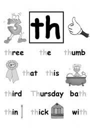 These handy th worksheets are a fun and easy easy way to teach children about the words. Th Blend Poster Esl Worksheet By Emfox