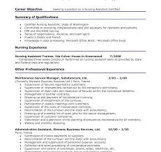 Cna Resume Summary Examples Resume Template Professional Cna Skills Nursing Assistant Example 45
