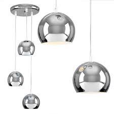 modern 3 way silver chrome multi tier ceiling pendant spot light fitting lights
