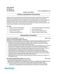 Chemical Engineer Resume Lovely Chemical Engineering Resume Examples