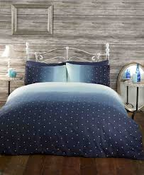 galaxy navy light blue white stars king size duvet cover bedding bed set co uk kitchen home