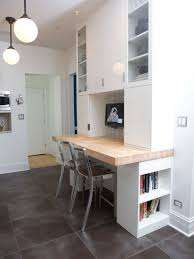 office kitchen furniture. Study Room - Small Contemporary Built-in Desk Ceramic Floor And Gray Office Kitchen Furniture