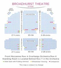 Cort Theater Seating Chart Awesome Broadhurst Theatre Seating Chart Bayanarkadas