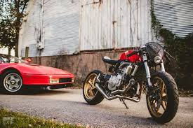 he already owns another of my honda cb600f builds explains art and he loved the power feel and reliability of that engine so much he wanted this one