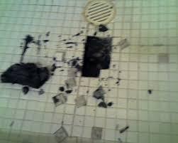 possible mold under shower tiles flooring diy room home