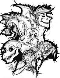 Creepy Coloring Pages Adults Samzuniss Com Showy 6 Futuramame