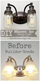 household lighting fixtures. Blesser House: DIY Mason Jar Vanity Light Gotta Do This To My Bathroom Lights! Household Lighting Fixtures T