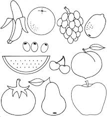 Small Picture Fruit Coloring Page Free Download