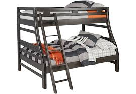 bunk bed with slide and desk. Creekside Charcoal Twin/Full Bunk Bed With Slide And Desk
