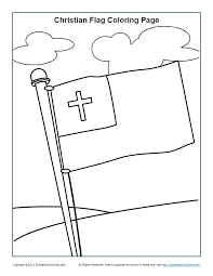You can print this rosary coloring page here. Christian Flag Coloring Page Sunday School Activities For Kids