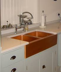 best kitchen copper sink stainless steel appliances with white wall decoration