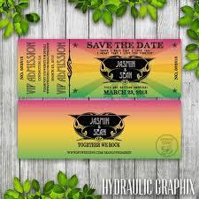 Concert Ticket Invitations Template Magnificent Concert Ticket Save The Date Printable Ticket Wedding Invitation