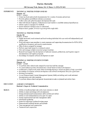 Technical Writer Intern Resume Samples | Velvet Jobs
