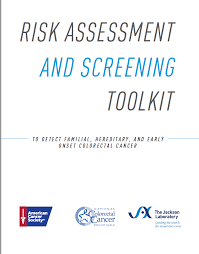 risk assessment and screening toolkit to detect familial hereditary and early onset colorectal cancer