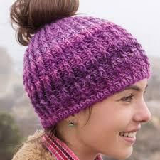 Bun Hat Crochet Pattern Inspiration Messy Bun Hat Pattern Collection Red Heart