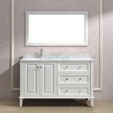 55 inch single sink bathroom vanity with choice of top in white uvabliwh55