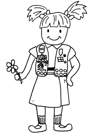 Girl Scout Brownie Coloring Pages 22632 Bestofcoloringcom
