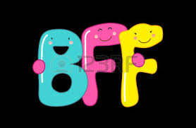 cute smiling cartoon characters of letters bff best friends forever ver=6