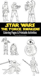 Small Picture Star Wars The Force Awakens Printable Activities Coloring Pages