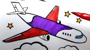 airplane drawing for kids.  Drawing Plane Drawing For Kids  How To Draw An Airplane Easy Step By With Drawing For Kids I