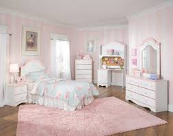 Bedroom Decorations Girly Design With Soothing White And Minimalist Design  ...
