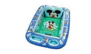 disney baby inflatable bathtub kid toddler bath tub mickey mouse