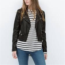 whole women plus size black faux pu leather motorcycle jackets y long sleeve coats casaco feminine european streetwear tops ct1088 jacket fox jacket