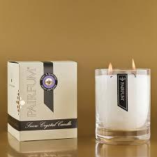 linen lavender large glass candle jar