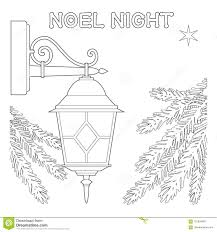 Noel Night Black And White Poster With Lonely Star Street Lamp