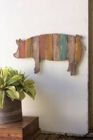 multi striped wooden pig wall art on wooden pig wall art with multi striped wooden pig wall art wood art pinterest walls