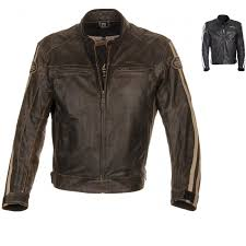 richa retro racing leather motorcycle jacket