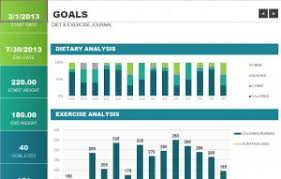 Exercise Tracking Chart Excel Calories And Exercise Chart Template My Excel Templates