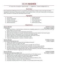 Hotel General Manager Resume Sample General Manager Resume Samples