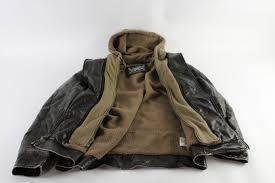 machine clothing company men s large leather jacket