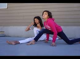 family gymnastics challenge not so flexible